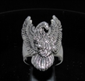Picture of 21 x STERLING SILVER MEN'S BIKER RINGS BIG EAGLE WITH SPREAD WINGS OF FREEDOM WHOLESALE-LOT