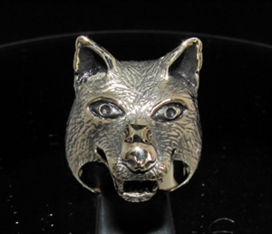 Picture of 21 x BRONZE MEN'S ANIMAL RINGS BIG WOLF LOBO COYOTE WHOLESALE-LOT