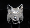 Picture of 21 x HUGE STERLING SILVER MEN'S ANIMAL RINGS BIG WOLF LOBO COYOTE WHOLESALE-LOT