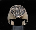 Picture of 21 x BRONZE MEN'S SIGNET RINGS CELTIC PENTACLE PENTAGRAM FLAT WHOLESALE-LOT