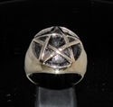 Picture of 21 x BRONZE MEN'S SIGNET RINGS CELTIC PENTACLE PENTAGRAM DOME WHOLESALE-LOT