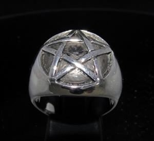 Picture of 21 x DOMED STERLING SILVER MEN'S SIGNET RINGS CELTIC PENTACLE PENTAGRAM WHOLESALE-LOT