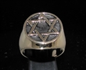 Picture of 21 x BRONZE MEN'S SIGNET RINGS CELTIC HEXAGON HEXAGRAM FLAT ANTIQUED WHOLESALE-LOT