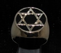 Picture of 21 x BRONZE MEN'S SIGNET RINGS CELTIC HEXAGON HEXAGRAM STAR OF DAVID FLAT BLACK WHOLESALE-LOT