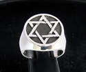 Picture of 21 x STERLING SILVER MEN'S SIGNET RINGS CELTIC HEXAGON HEXAGRAM FLAT ANTIQUED WHOLESALE-LOT