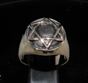 Picture of 21 x BRONZE MEN'S SIGNET RINGS CELTIC HEXAGON HEXAGRAM DOME ANTIQUED WHOLESALE-LOT