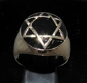 Picture of 21 x BRONZE MEN'S SIGNET RINGS CELTIC STAR OF DAVID HEXAGRAM DOME BLACK WHOLESALE-LOT