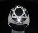 Picture of 21 x STERLING SILVER RINGS CELTIC STAR OF DAVID HEXAGON HEXAGRAM OVAL BLACK WHOLESALE-LOT