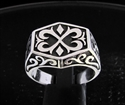 Picture of 21 x STERLING SILVER MEN'S SIGNET RINGS CELTIC ORNAMENTAL CREST CROSS ANTIQUED WHOLESALE-LOT