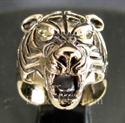"Picture of 21 x BRONZE RINGS "" THE TIGER "" APEX PREDATOR YELLOW CZ EYES WHOLESALE-LOT"