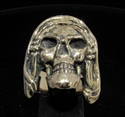 Picture of 21 x BRONZE MEN'S BIKER RINGS GRIM REAPER SKULL HEAR NO EVIL WHOLESALE-LOT