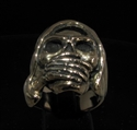 Picture of 21 x BRONZE MEN'S BIKER RINGS GRIM REAPER SKULL SPEAK NO EVIL WHOLESALE-LOT