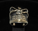 Picture of 21 x BRONZE MEN'S BIKER RINGS WINKING BOSSY GRINNING GNOME SKULL WHOLESALE-LOT