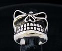 Picture of 21 x STERLING SILVER RINGS WINKING BULLY BOSS SKULL WHOLESALE-LOT