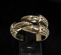 Picture of 21 x BRONZE MEN'S FANTASY RINGS DRAGON CLAW THREE TALON WHOLESALE-LOT