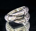 Picture of 21 x STERLING SILVER MEN'S RINGS DRAGON CLAW THREE TALON ANTIQUED WHOLESALE-LOT