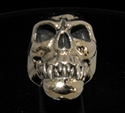 Picture of 21 x BRONZE MEN'S BIKER RINGS ZOMBIE CANNIBAL MANEATER FANGS WHOLESALE-LOT