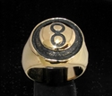 Picture of 21 x BRONZE MEN'S SIGNET RINGS BLACK EIGHT 8 BILLIARD POOL ANTIQUED WHOLESALE-LOT