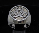 Picture of 21 x ROUND STERLING SILVER MEN'S SIGNET RINGS WARNING TOXIC WASTE RESIDENT EVIL WHOLESALE-LOT
