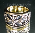 Picture of 21 x BRONZE BAND RINGS TEMPLAR KNIGHT CROSS LILY WHOLESALE-LOT