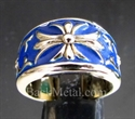 Picture of 21 x BRONZE BAND RINGS TEMPLAR KNIGHT CROSS LILY BLUE WHOLESALE-LOT