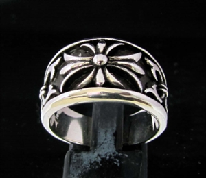 Picture of 21 x STERLING SILVER BAND RINGS TEMPLAR KNIGHT CROSS LILY WHOLESALE-LOT