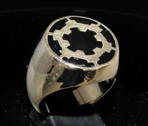 Picture of 21 x BRONZE MEN'S SIGNET RINGS STAR WARS IMPERIAL COAT OF ARMS BLACK WHOLESALE-LOT