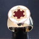 Picture of 21 x BRONZE RINGS STAR WARS IMPERIAL COAT OF ARMS WHITE AND BURGUNDY WHOLESALE-LOT