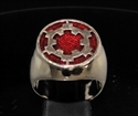 Picture of 21 x BRONZE MEN'S SIGNET RINGS STAR WARS IMPERIAL COAT OF ARMS DARK RED WHOLESALE-LOT