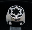 Picture of 21 x STERLING SILVER MEN'S SIGNET RINGS STAR WARS IMPERIAL COAT OF ARMS BLACK WHOLESALE-LOT