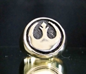 Picture of 21 x BRONZE RINGS STAR WARS REBEL ALLIANCE COAT OF ARMS ANTIQUED WHOLESALE-LOT