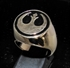 Picture of 21 x BRONZE MEN'S SIGNET RINGS STAR WARS REBEL ALLIANCE COAT OF ARMS BLACK WHOLESALE-LOT