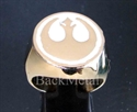 Picture of 21 x BRONZE RINGS STAR WARS REBEL ALLIANCE COAT OF ARMS WHITE WHOLESALE-LOT