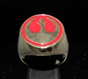 Picture of 21 x BRONZE MEN'S SIGNET RINGS STAR WARS REBEL ALLIANCE COAT OF ARMS RED WHOLESALE-LOT