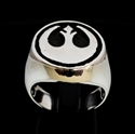 Picture of 21 x STERLING SILVER MEN'S SIGNET RINGS STAR WARS REBEL ALLIANCE COAT OF ARMS WHOLESALE-LOT