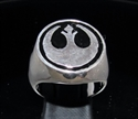 Picture of 21 x STERLING SILVER MEN'S SIGNET RINGS STAR WARS REBEL ALLIANCE COAT OF ARMS BLACK WHOLESALE-LOT