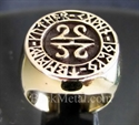 Picture of 21 x BRONZE RINGS CELTIC RUNES MANDALA WHOLESALE-LOT