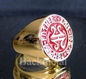 Picture of 21 x BRONZE RINGS CELTIC RUNES MANDALA RED WHOLESALE-LOT