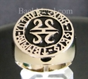 Picture of 21 x BRONZE RINGS CELTIC RUNES MANDALA BLACK WHOLESALE-LOT
