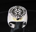 Picture of 21 x ROUND STERLING SILVER SIGNET RINGS CELTIC RUNES MANDALA WHOLESALE-LOT
