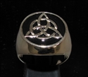 Picture of 21 x BRONZE MEN'S SIGNET RINGS CELTIC TRISKELE KNOT BLACK WHOLESALE-LOT