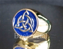 Picture of 21 x BRONZE RINGS CELTIC TRISKELE KNOT BLUE WHOLESALE-LOT