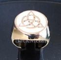 Picture of 21 x BRONZE RINGS CELTIC TRISKELE KNOT WHITE WHOLESALE-LOT
