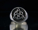 Picture of 21 x STERLING SILVER MEN'S SIGNET RINGS CELTIC TRISKELE KNOT WHOLESALE-LOT