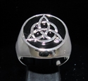 Picture of 21 x STERLING SILVER MEN'S SIGNET RINGS CELTIC TRISKELE KNOT BLACK WHOLESALE-LOT