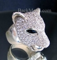 Picture of 21 x STERLING SILVER RINGS KRISTAL CRISTAL PANTHER 253 CZs WHOLESALE-LOT