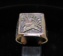 Picture of 21 x SQUARE BRONZE MEN'S SIGNET RINGS SPARTAN WARRIOR GLADIATOR ANTIQUED WHOLESALE-LOT
