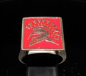 Picture of 21 x BRONZE MEN'S SQUARE SIGNET RINGS SPARTAN GLADIATOR RED WHOLESALE-LOT