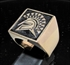 Picture of 21 x BRONZE MEN'S SIGNET SQUARE RINGS SPARTAN GLADIATOR GREEK WARRIOR BLACK WHOLESALE-LOT
