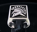 Picture of 21 x SQUARE STERLING SILVER MEN'S SIGNET RINGS SPARTAN WARRIOR GLADIATOR ANTIQUED WHOLESALE-LOT